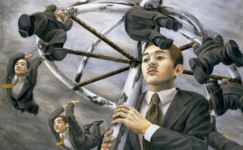 La cruda crítica social del pintor japonés Tetsuya Ishida llega aMadrid
